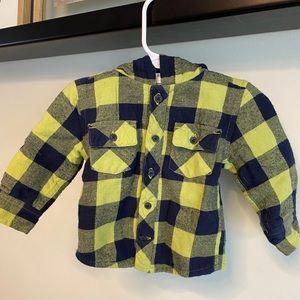 Gymboree baby boy flannel jacket
